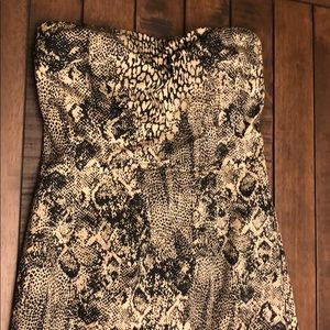 The Limited Animal print strapless dress Size 6